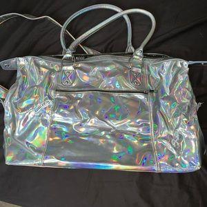 Holographic Weekender Bag